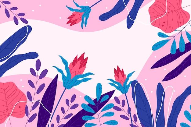 Kleurrijk tropisch behang met lege ruimte