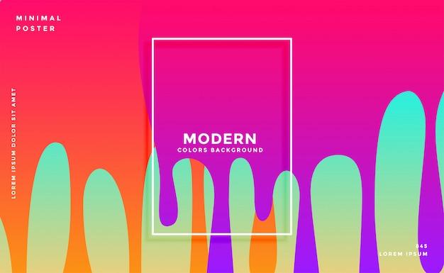 Kleurrijk van de inktdruppel ontwerp als achtergrond