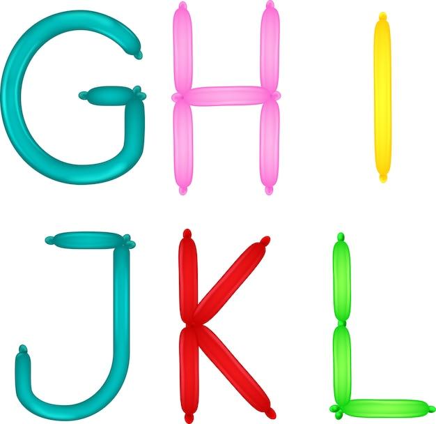 Kleurrijk van het alfabet