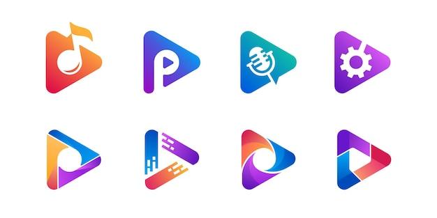 Kleurrijk van het logo van het teken van de spelknoop
