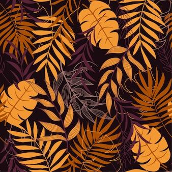 Kleurrijk vector tropisch naadloos patroon