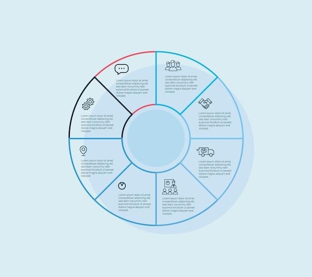 Kleurrijk vectorontwerp voor workflowlay-out, diagram, nummeropties, webdesign, infographics