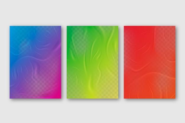 Kleurrijk verfrommeld poster slecht gelijmd effect