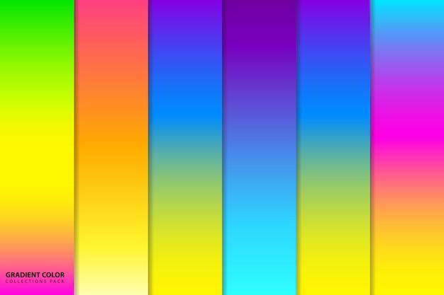 Kleurrijk verloop achtergrondpak