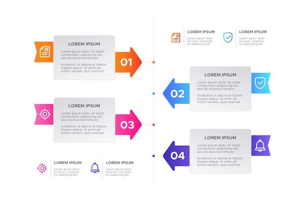 Kleurrijk verloop infographic