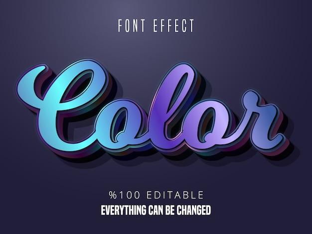 Kleurrijk verloop lettertype effect