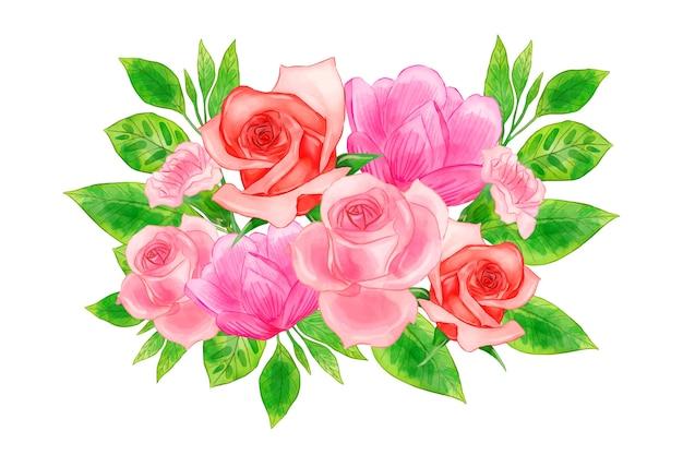 Kleurrijk vintage bloemenboeket