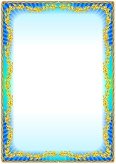 Kleurrijk vintage frame randontwerp