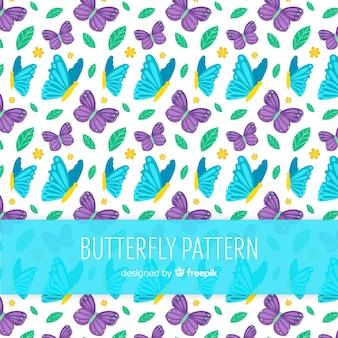 Kleurrijk vlindergeklets