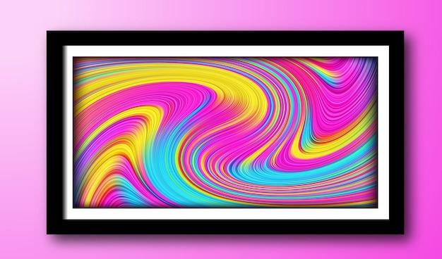 Kleurrijk vloeibaar vloeibaar kleurenontwerp