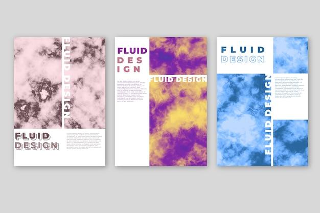 Kleurrijk vloeistofeffect poster sjabloon concept