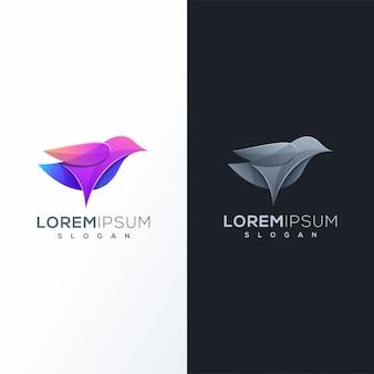 Kleurrijk vogel logo ontwerp