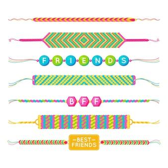 Kleurrijk vriendschapsbandpakket