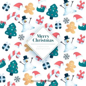 Kleurrijk vrolijk kerstmispatroon als achtergrond