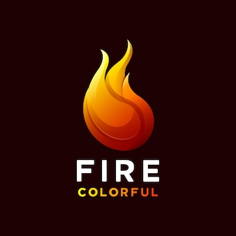 Kleurrijk vuurlogo
