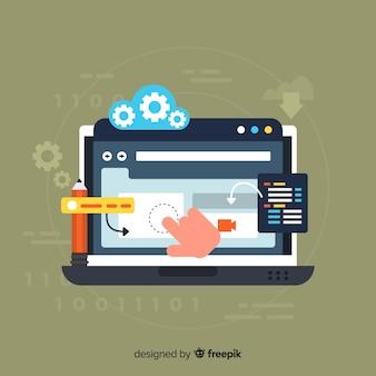 Kleurrijk webontwerpconcept met vlak ontwerp