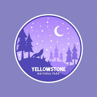 Kleurrijk yellowstone badge design