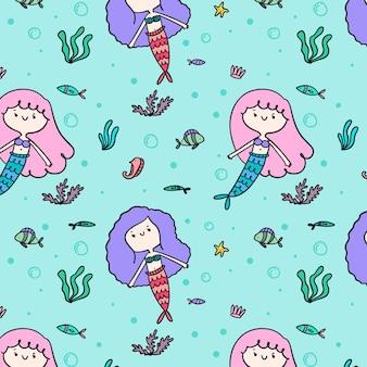 Kleurrijk zeemeerminpatroon