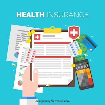Kleurrijk ziektekostenverzekering concept