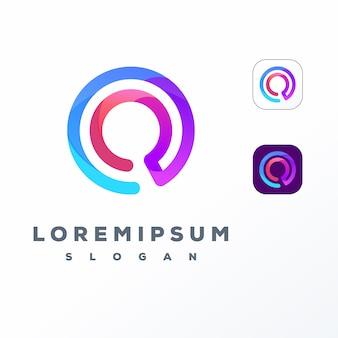 Kleurrijk zoek logo ontwerp
