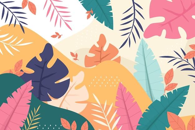 Kleurrijk zomerbehang voor zoom