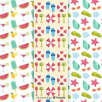 Kleurrijk zomerelement patroon