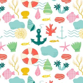 Kleurrijk zomerpatroon