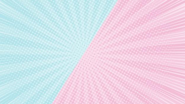 Kleurrijke 2 tonen roze en blauwe achtergrond met halftoon en zonlicht effect webpagina-scherm grootte achtergrond banner
