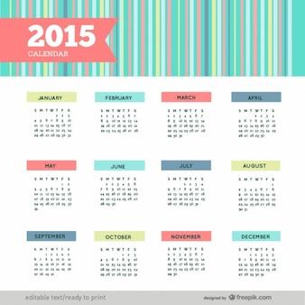 Kleurrijke 2015 kalender