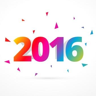 Kleurrijke 2016 gelukkig nieuwjaar kaart