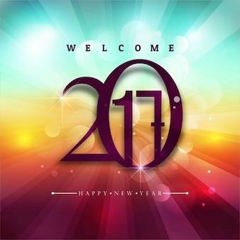 Kleurrijke 2017 nieuwe jaar achtergrond