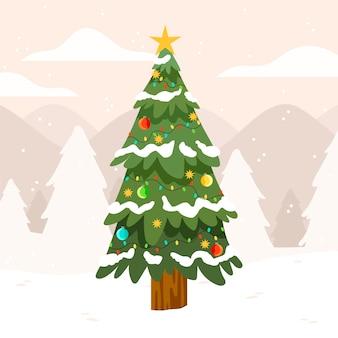Kleurrijke 2d kerstboom