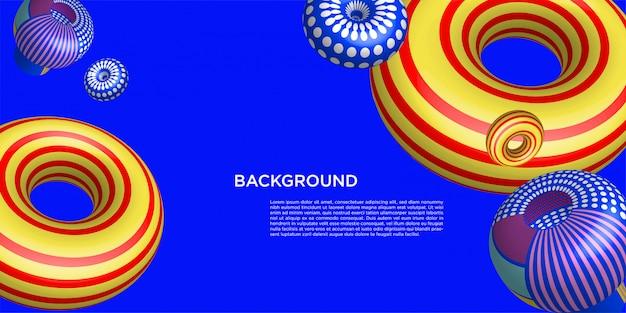 Kleurrijke 3d achtergrondbannermalplaatje