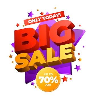 Kleurrijke 3d banner grote verkoop