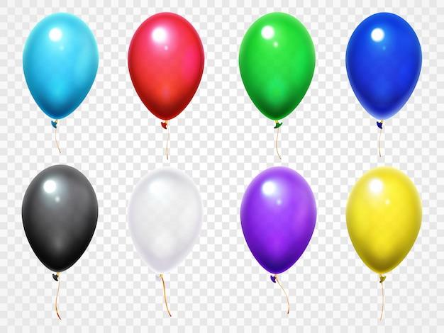 Kleurrijke 3d glanzende verjaardagsfeestje ballonnen set