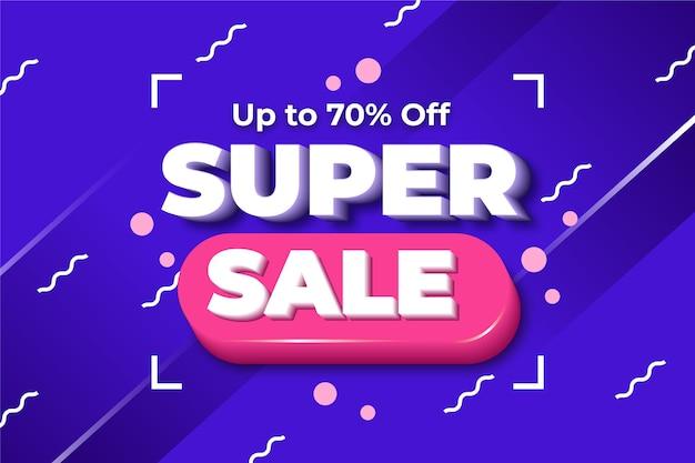Kleurrijke 3d super verkoopachtergrond