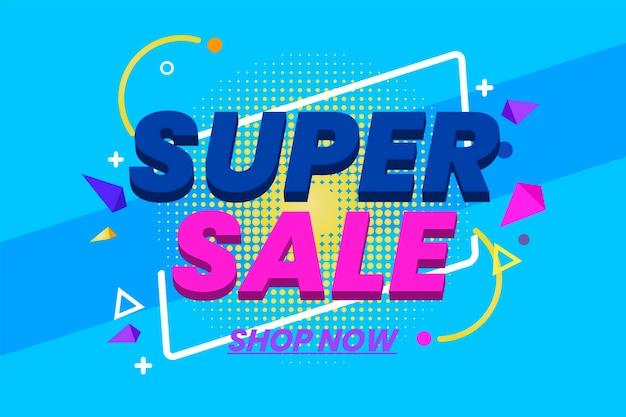 Kleurrijke 3d verkoopachtergrond