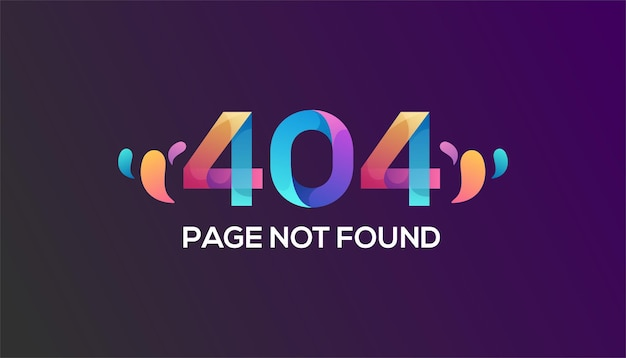 Kleurrijke 404-foutsjabloon