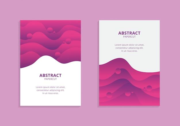 Kleurrijke a4 golvende vormen