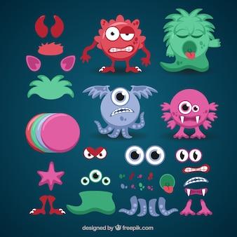 Kleurrijke aanpasbare monster