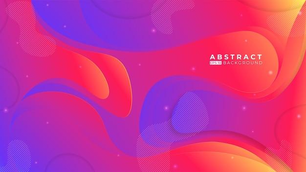 Kleurrijke abstracte achtergrond met elementen van memphis