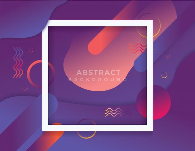 Kleurrijke abstracte achtergrond met frame
