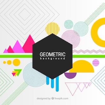 Kleurrijke abstracte achtergrond met geometrische vormen