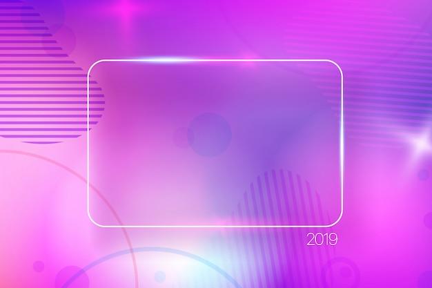 Kleurrijke abstracte achtergrond met leeg frame.