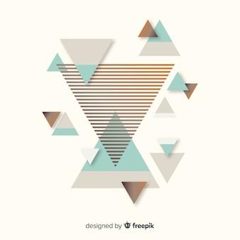 Kleurrijke abstracte achtergrond met platte ontwerp
