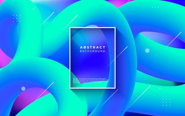 Kleurrijke abstracte achtergrond met vloeibare vormen