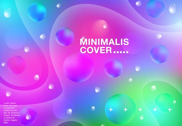 Kleurrijke abstracte achtergrond verplaatsen