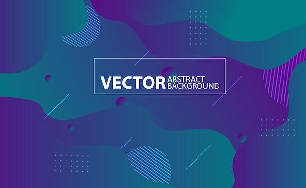 Kleurrijke abstracte achtergrond. vloeibaar geometrisch abstract ontwerp als achtergrond. vloeiend vectorverloopontwerp voor banner, post