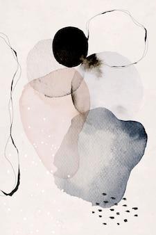 Kleurrijke abstracte aquarel cirkels achtergrond
