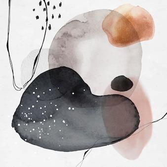 Kleurrijke abstracte aquarel cirkels sociale advertenties sjabloon vector